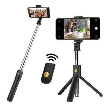 Leapcover w nowym stylu K10 statyw do kijka do Selfie poziome i pionowe weź kijek do Selfie Bluetooth Selfie Stick Selfie Stick Mobile tanie i dobre opinie K10 Selfie Stick