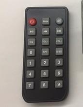 Black remote 21 Silicon Key Button Wireless Remote controller MP3 Decorde board IR Remoter Music Player Module Receiver