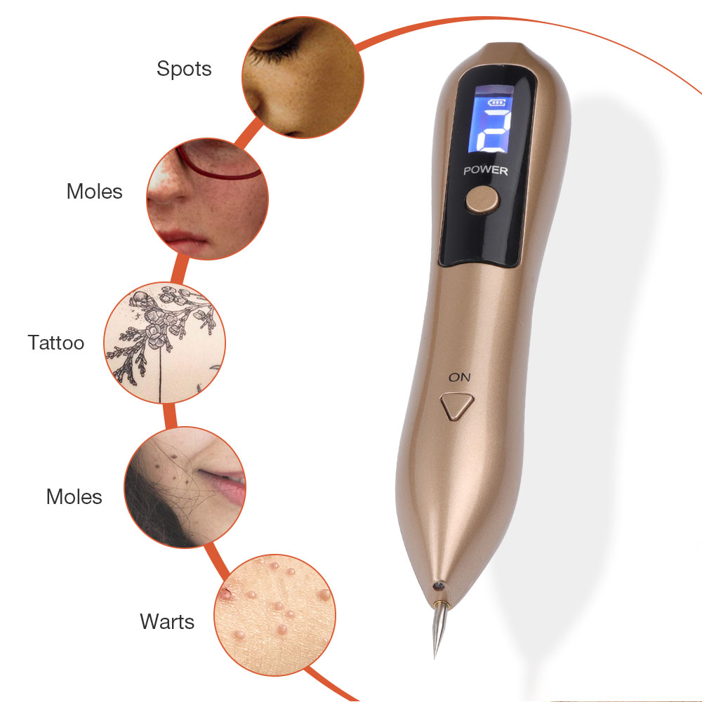 LCD Plasma Pen LED Lighting Laser Tattoo Mole Removal Machine Face Care Skin Tag Removal Freckle Wart Dark Spot Remover 3