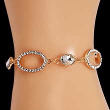 Gold Plated Bracelet Femme Women's Jewelry for Women Chain Bracelet Bangle Charms Bangles for Women Rhinestones Bracelets Gift stylish rhinestones faux pearls rose gold bracelet for women