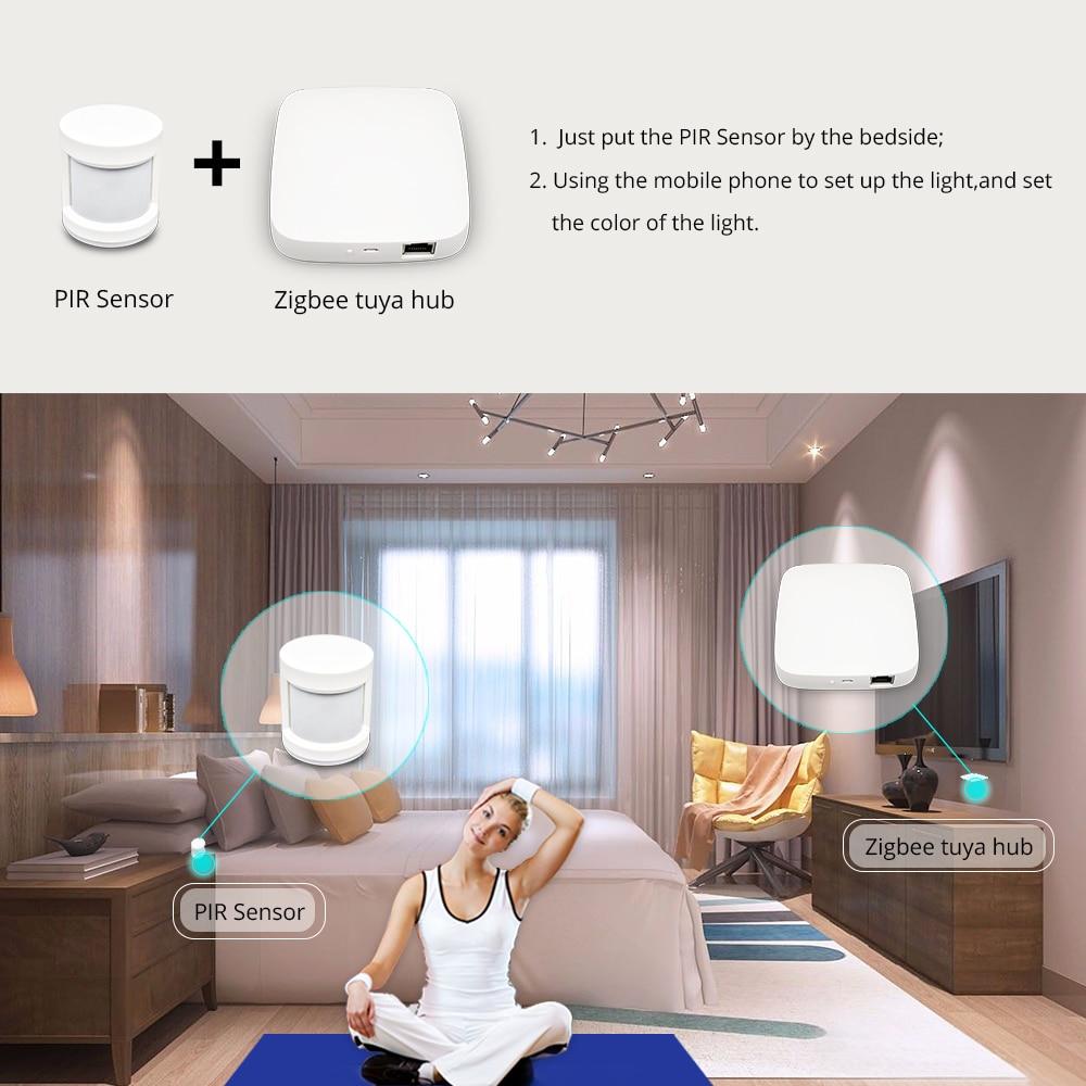 lowest price Tuya Zigbee Hub Smart Home PIR Sensor Door Sensor Temperature and Humidity Sensor Home Automation Scene Security Alarm Kit