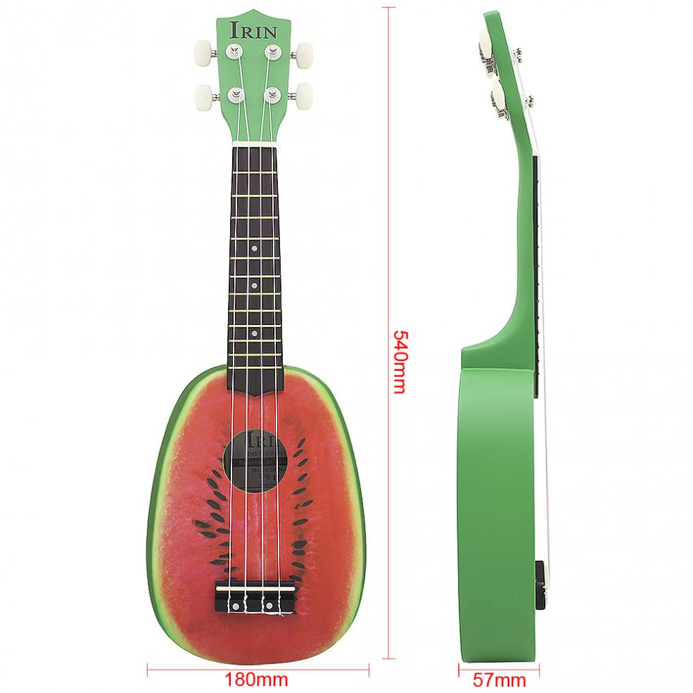 Купить с кэшбэком IRIN 21 Inch Soprano Ukulele Watermelon Pattern 12 Fret Pineapple Shape Four Strings Hawaii Guitar String Musical  Instrument