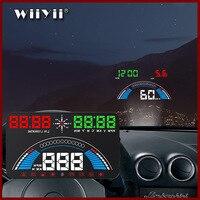 WiiYii S7 HUD màn hình ô tô OBD2 GPS temperatura HUD đo tốc độ Cho Tự Động Accesso điện tử Dữ Liệu Công Cụ Chẩn Đoán