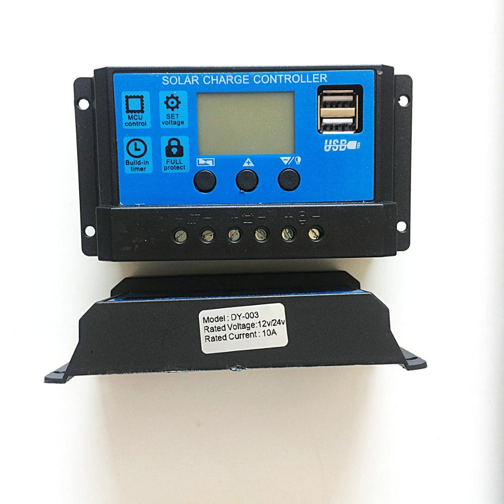 New 30A 12/24V USB Solar Regulator Charge Controller PWM Charge Mode LCD Solar Panels Genetator Voltage Current Controller