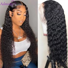 HD Transparent Kinky Curly Lace Wig Human Hair Lace Front Human Hair Wig 13x4 Lace Front Wig Malaysian 180 Density Lace Wig Remy