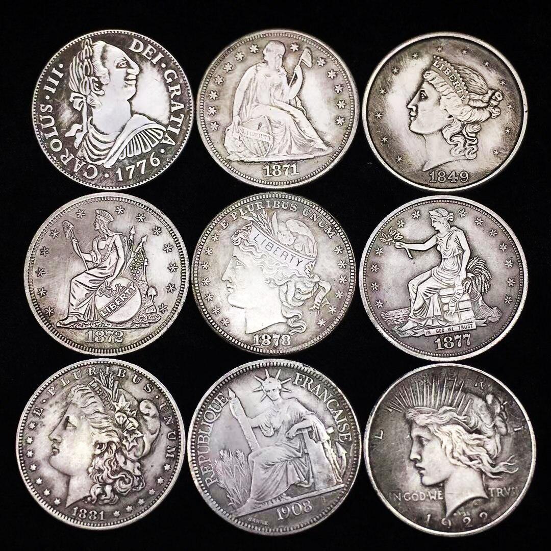 Оригинальная Серебряная монета США, королева Моргана, монеты на свободу, 1 доллар, антикварная Коллекционная монета, подарок на Рождество