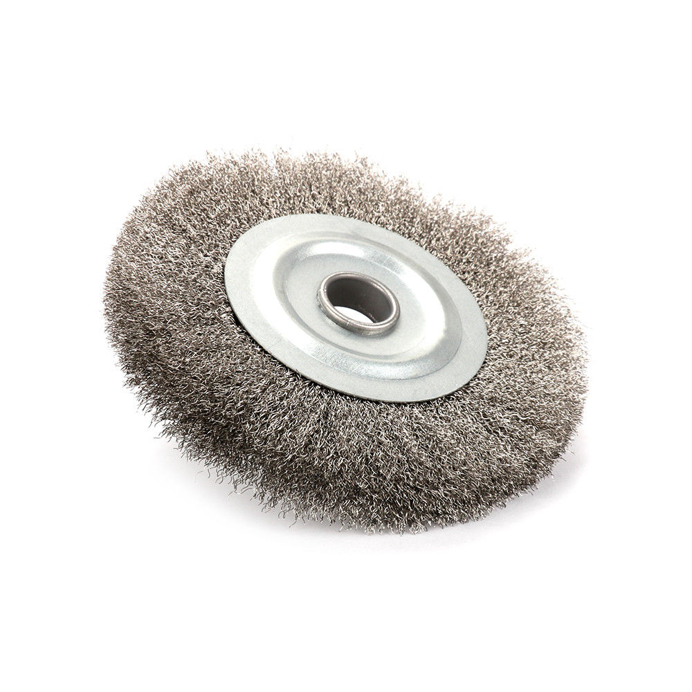 5//125mm Crimped Stainless Steel Wire Wheel Brush For Bench Grinder Rust Removal