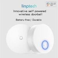 xiaomi wireless doorbell self powered no battery waterproof remote door bell smart doorbell home ringstone timbre outdoor