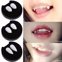 2pcs Cosplay Halloween Dentures Zombie Ghost Devil Werewolf Teeth Box Packed Gift Prop Costume Party Vampire Teeth Kid Toy(China)