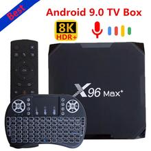 Beste Smart TV box 2021 X96 max plus mini 4pda Android 9 0 Amlogic S905X3 Quad Core 4GB 64GB 32GB 8K Wifi 4K X96Max + Media Player cheap LISM 1000 Mt CN (Herkunft) Amlogic S905X Quad-core 64-bit-prozessor 32 GB eMMC 64 GB eMMC HDMI 2 0 Nein 4G DDR3 802 11 n 2 4 GHz