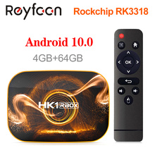 HK1 Rbox Android 10 Smart Tv Box 4Gb 64Gb 32Gb Rockchip RK3318 1080P H.265 5G wifi 4K Google Speler Winkel Youtube Set Top Box