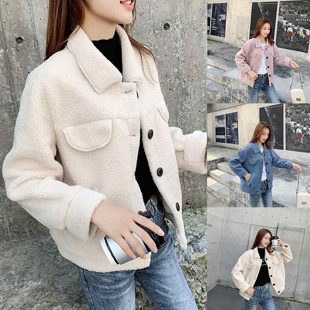 Abrigo de piel de oveja de piel auténtica de invierno para mujer Abrigos de lana auténtica Collar de vuelta de invierno chaqueta de esquilar de oveja caliente