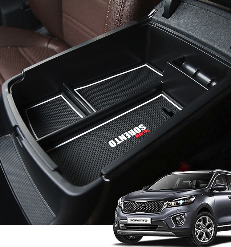 Armrest Storage Box Container Holder Tray for Kia Sorento 2015 2016 2017 Intimate Car Accessories Organizer Styling