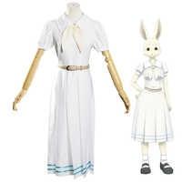 Hot Anime Beastars disfraz Haru Lolita Haru Cosplay vestido de falda mujeres falda de la escuela uniforme blanco conejo niñas uniforme japonés traje