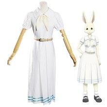 Hot Anime Beastars Haru Kostüm Lolita Haru Cosplay Kleid Rock Frauen Schuluniform Weiß Kaninchen Mädchen Japanischen Uniform Outfit