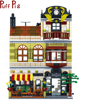 1326Pcs DIY Creative Building Blocks Xunwei Chinese Restaurant City Street View Series 3D Model Educational Toys Children Gift