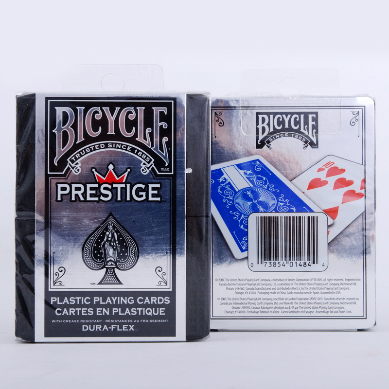 1 Deck Bicycle Cards Prestige Plastic Playing Cards Regular Bicycle Deck Rider Back Card Magic Trick Magic Props