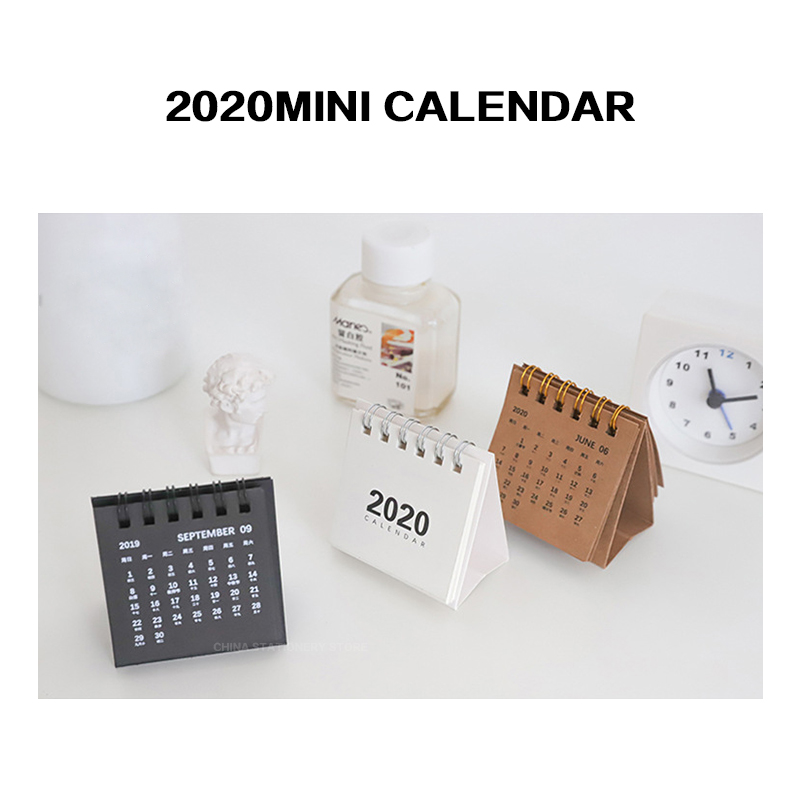 Mini Calendar 2020 Personalized Desk Calendar Creative Fashion Simple