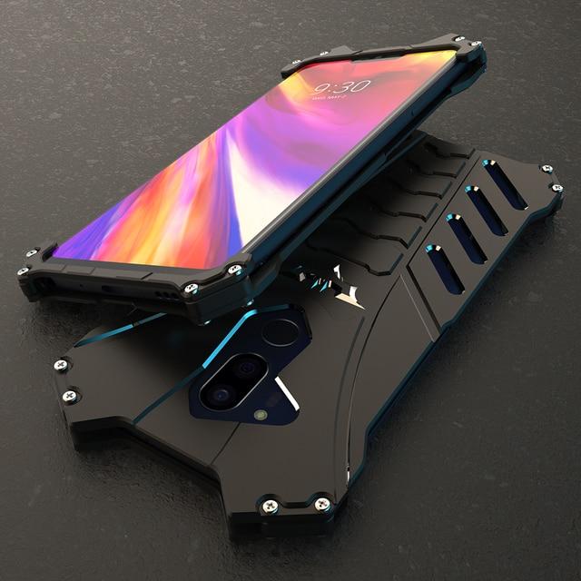Capa protetora para lg v30 plus g8, case protetor, armadura resistente, de metal, à prova de choque, para telefones, batman, doom, R JUST capa para g7 g6 g8