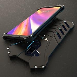 Image 1 - R JUST מקרה עבור LG V30 בתוספת G8 מקרה באטמן אבדון Heavy Duty שריון מתכת אלומיניום עמיד הלם טלפון מקרה עבור LG g7 G6 G8 מקרה כיסוי
