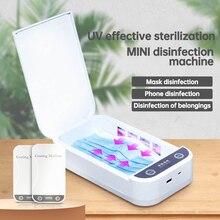 Portable UV Sterilization Box Ultraviolet Disinfection Box Masks Sterilizer Box Home Storage Case fo