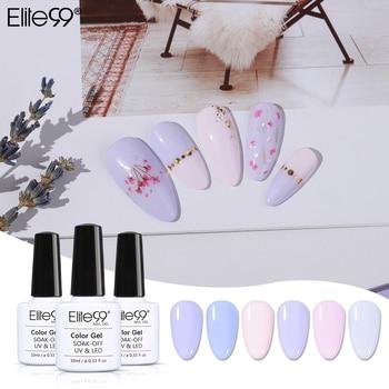Elite99 10ml Lavendel Farbe Gel Polnischen Vernis Semi Permanent Top Mantel UV Gel Lack Tränken Weg Nail art Primer gel Nagellack