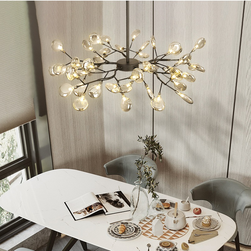 LED Chandelier lighting stylish tree branch decorative firefly ceiling chandelies hanging Lighting Modern chandelier lamp
