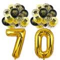 Счастливый 70th День рождения украшения для взрослых 70 лет шар 12 дюймов латексные конфетти номер Фольга шар 70 Юбилей питания