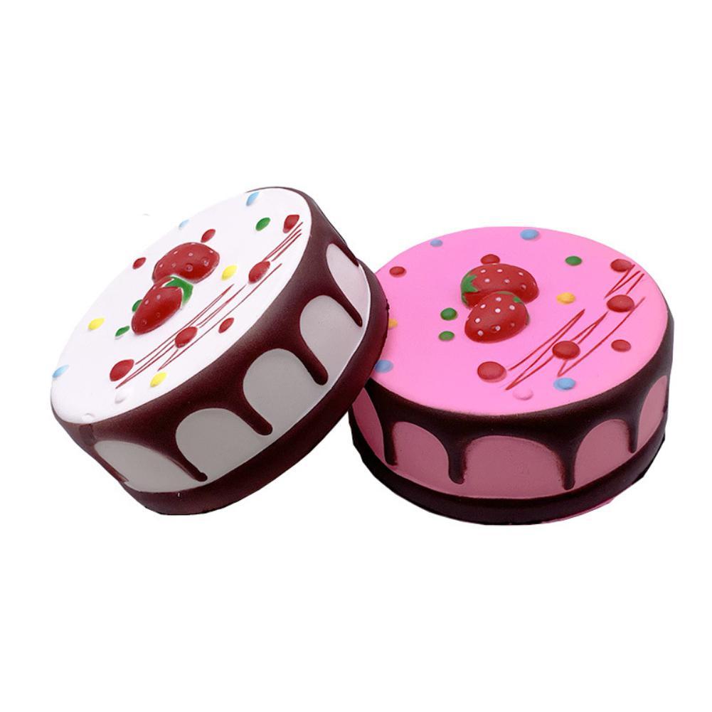 Kuulee Slow Rebound Antistress Toy Round Strawberry Mousse Cake Squishy Toy PU Foaming Educational Learning Toys