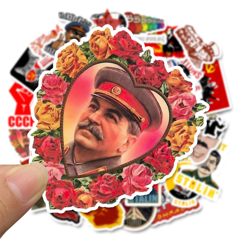 50pcs Soviet Union Stalin USSR CCCP Stickers HET Waterproof Stickers For Luggage Laptop Phone Skateboard Room Wall Stickers F4