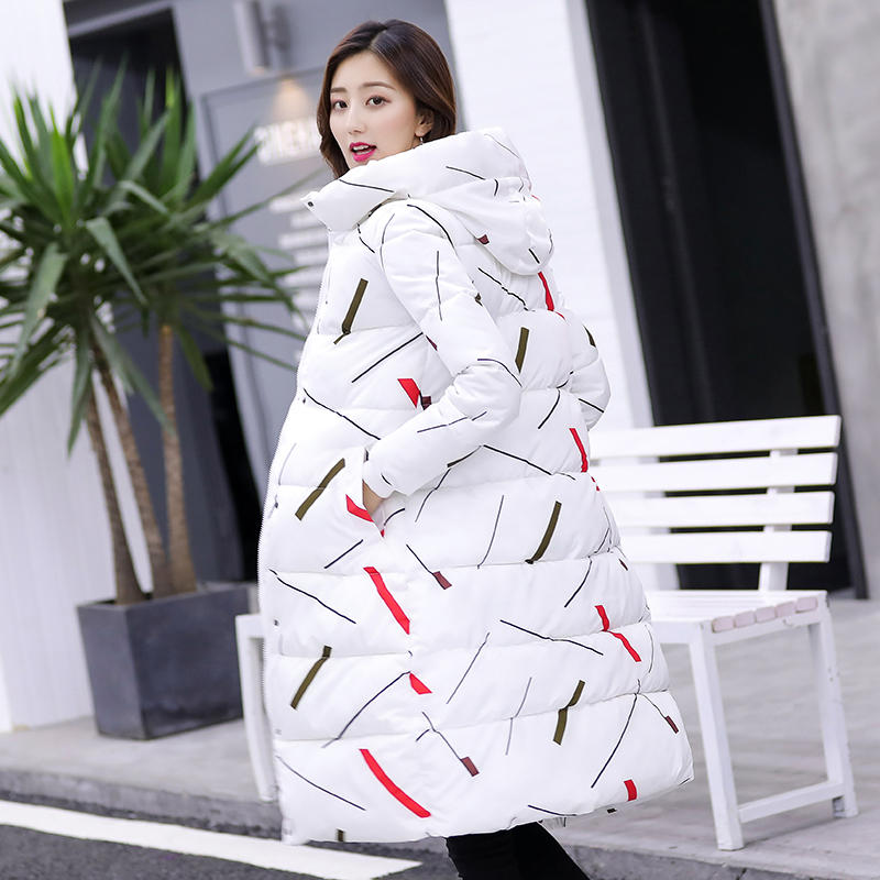 NEW Down Cotton Jacket Women   Parka   Coat Casual Oversize Hooded Warm Long Coat Femme Thick Loose Padded Winter Jacket Women Q1796