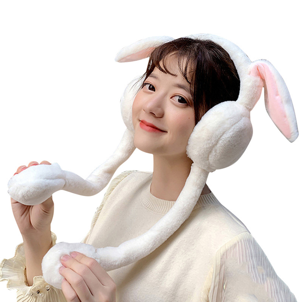 Ladies Cute Ear Muffs Cache Oreille Fashion Women Earmuffs Warm Cap Plush Rabbit Ear Earmuffs For Autumn Winter