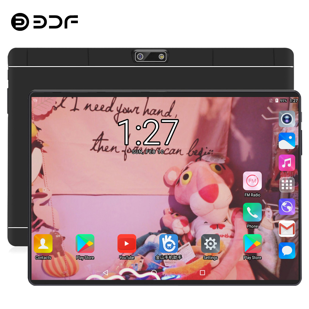 BDF New 10 Inch Original Design 3G Phone Call Android 7.0 Quad Core 1GB+32GB Android Tablet Pc WiFi Bluetooth IPS Tablets 10.1