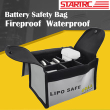 STARTRC Fireproof Waterproof Lipo Battery Safety Bag For RC Models Multicopter Drone/Car/Boat Handle Battery Storage Bag