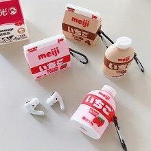 غطاء من السيليكون ل Airpods 1 2 3 لطيف بلوتوث حقيبة سماعة الاذن ل Airpod برو غطاء ل الهواء القرون الموالية المفاتيح الفراولة الشوكولاته