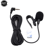 Mini jack 3.5 carro microfone de áudio 3.5mm jack aux microfone estéreo com fio externo pasta clipe para pc auto telefone do carro rádio 3m