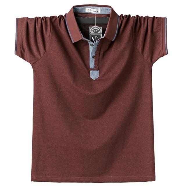 Summer Men Polo Shirt Mens Classic Solid Polo Shirts Cotton Shirt 6XL Large Size Casual Fashion Men Outwear Clothing Tops Tees