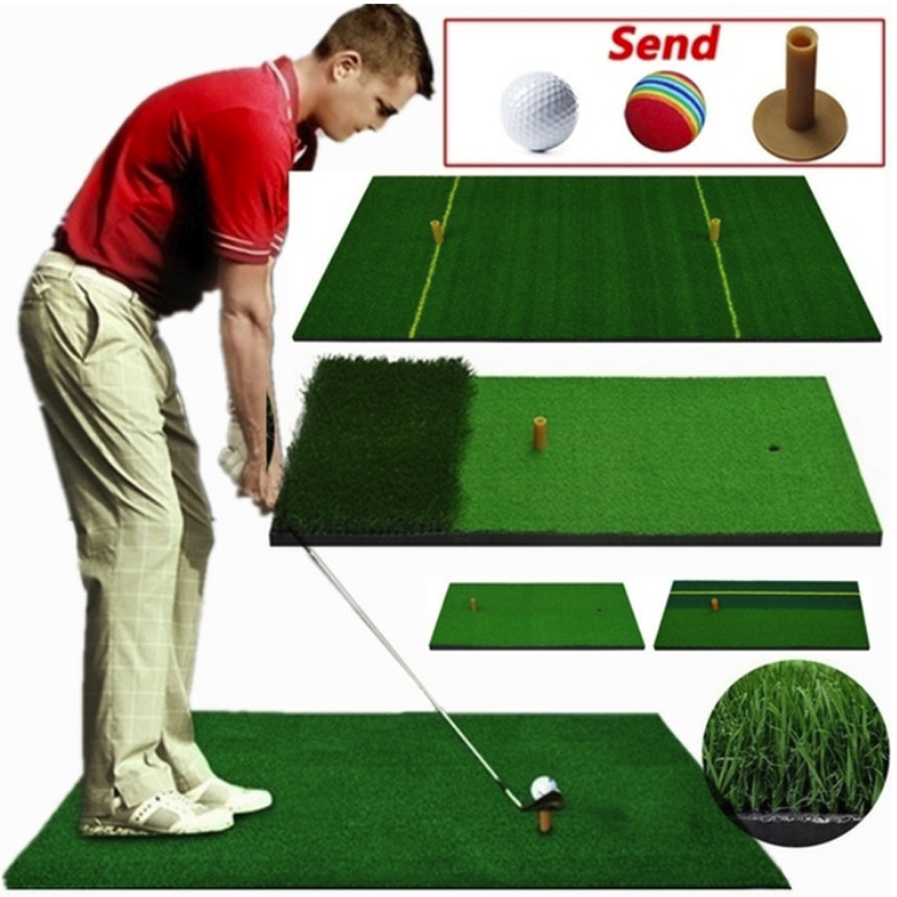 40X70cm Golf Practice Mat Artificial Lawn Nylon Grass Rubber Tee Backyard Outdoor Golf Hitting Mat Durable Training Pad