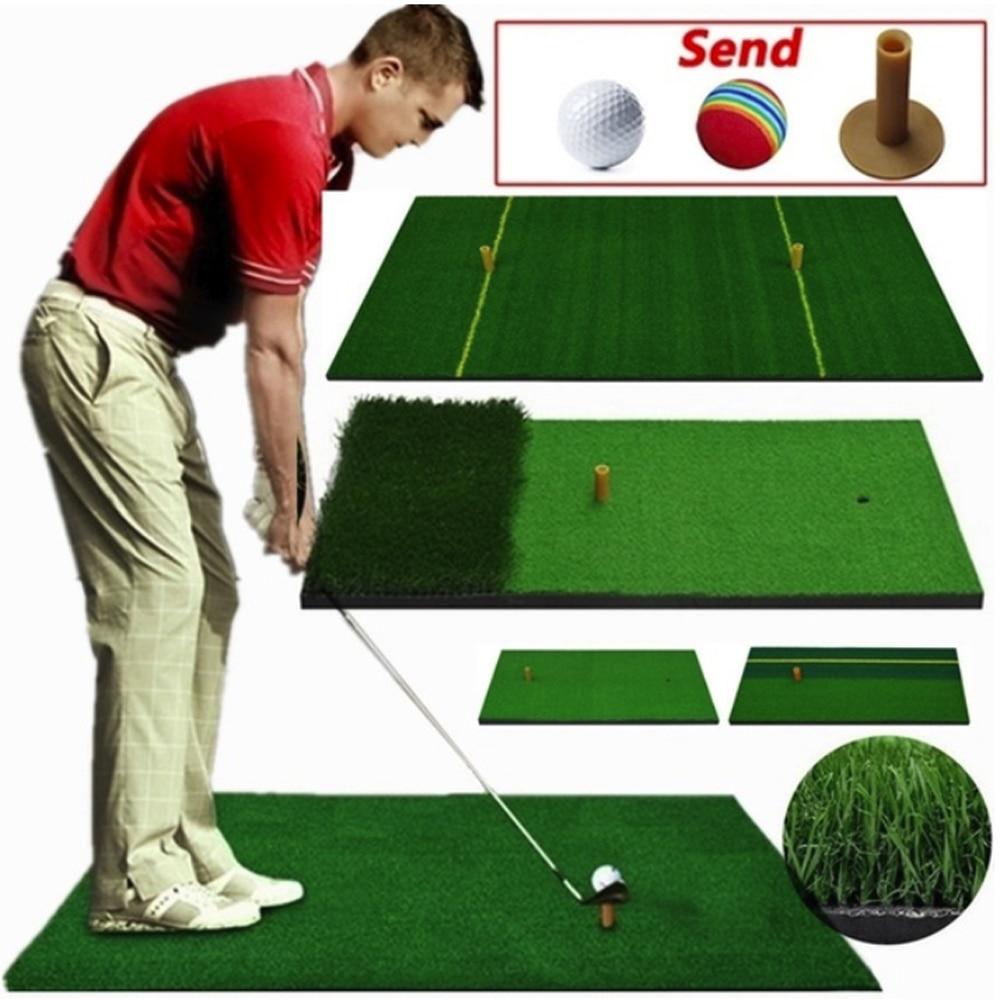 40X70cm Golf Practice Mat Artificial Lawn Nylon Grass Rubber Tee Backyard Outdoor Golf Hitting Mat Durable Training Pad