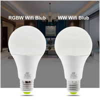 LED Lamp RGB Wifi Bulb 12W E27 AC220V APP Control RGB White Warm White Three Color Adjustment Wake up Smart Lamp Nightlight