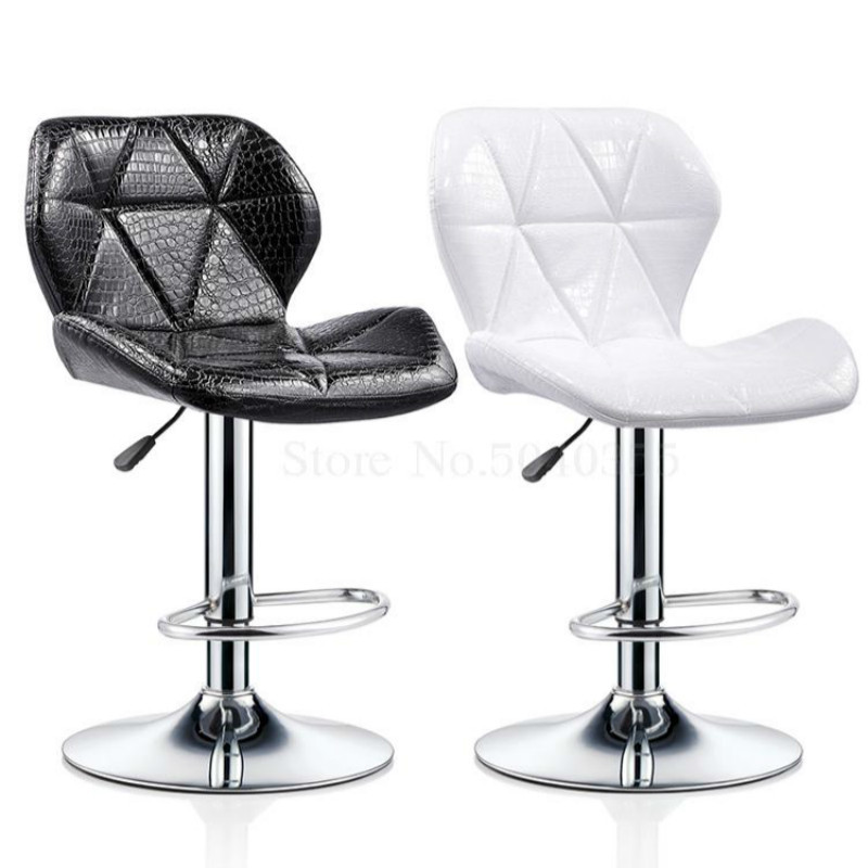 Rotating Bar Stool Backrest Lifting Modern Minimalist Bar Chair High Stool Bar Stool Home Beauty Stool