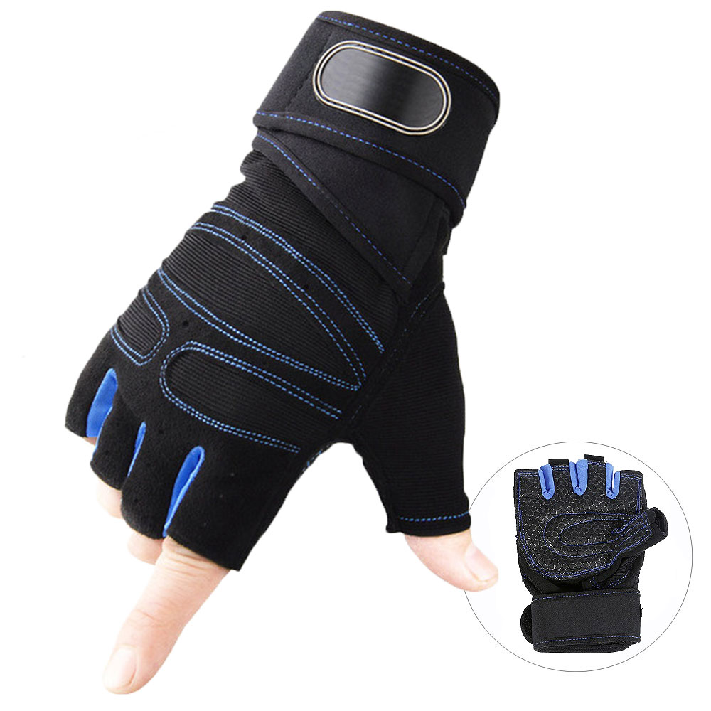 Gloves Leather Mesh Cycling Workout Weight Lifting Body Builder Mens Size XL