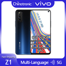 Original vivo iqoo z1 8gb 128gb 5g dimensão do telefone móvel 1000 mais 6.57