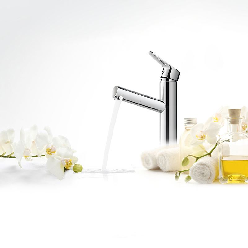 JIAYUN Bar Sink Faucet Brass Bathroom Lavatory Sink Faucet Mixer Small Kitchen Tap Brushed Chrome