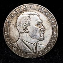 Frete grátis 1933 alemanha vintage original prata moeda lembranças para casa urss medalha álbum moeda collectibles coleção moedas
