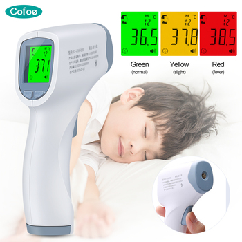 Cofoe Infrared Thermometer Digital Non-contact Forehead LCD IR Temperature Gun Multifunction Body Thermometer for baby adult недорого