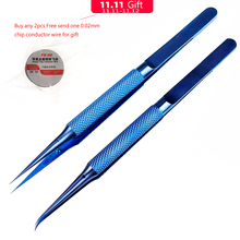 טיטניום סגסוגת פינצטה מקצועי תחזוקת כלי 0.15mm קצה דיוק טביעות אצבע פינצטה אפל עיקרי לוח נחושת חוט
