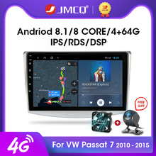 """JMCQ 10 """"2G + 32G Android 8,1 4G NET RDS Auto Radio Multimedia Video Player Für VW Volkswagen Passat B7 B6 2010 2015 Magotan CC DSP"""