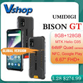 Смартфон UMIDIGI BISON GT защищенный, IP68/IP69K, 64 мп, 8 + 128 ГБ, 6,67 дюйма, Android 10, NFC, OTG