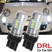 Faro delantero Led bombillas Led DRL blanco 6000K 12V Super brillante para Fiat 500 luz diurna T20 7443, 580 de 582 W21/5W